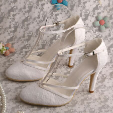 Lace High Heel Wedding Shoes UK Size 3 8