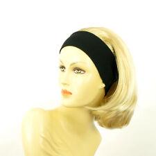 Stirnband Perücke frau mit lang golden blond Docht sehr hellblond MADY 24bt613