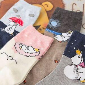 Moomin Socks Cute Hippo Japanese Cartoon Women Socks - One Size - FAST FREE POST