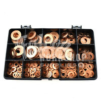 270 ASSORTED M5 M6 M8 M10 M12 SOLID COPPER FORM B WASHER SUMP PLUG BOLT KIT