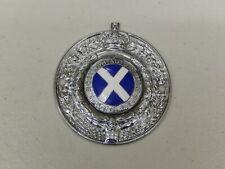 Vintage Chrome émail RSAC Royal Scottish Automobile Club Car Badge Auto emblème