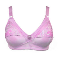 Trifolium Everyday Bra Total Support Non Wired No padded pad soft Pink 3494