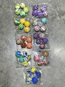 Bouncy Balls Party Favor Kids Birthday - Set Of 9 Bags - Pre Sorted