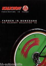 Prospekt Kalkhoff 1991 Fahrradprospekt Fahrrad Katalog brochure broschyr bikes