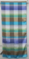 TERRIART  Aqua, Gold, Purple, Multi Stripes 57x13 Long Scarf-Vintage