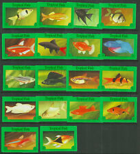 "18 ""TROPICAL FISH"" MATCHBOX LABELS CORNISH MATCH CO. LTD. LOVELY SERIES!"