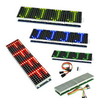 MAX7219 LED Display Microcontroller+5P Line Dot Module Parts Set Kit For Arduino
