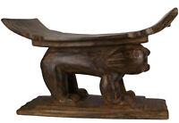 Massiv Holz Afrika Hocker Stuhl Akan Sitzmöbel Chair Stool
