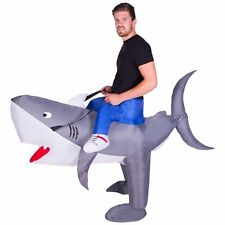 Adult Inflatable Shark Animal Mascot Costume Outfit Suit Halloween One Size