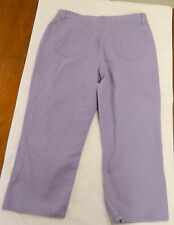 GLORIA VANDERBILT JEANS,  Lilac Colored Capris, Size 14, 100% Cotton