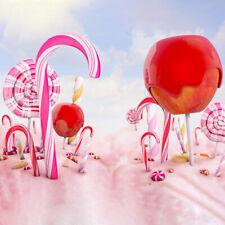 Cloud Candyland Candy Theme 8x8FT Vinyl Studio Backdrop Photography Background