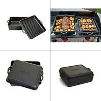 square preseasoned cast iron 13 in. dutch oven | camp chef cooking grill reverse
