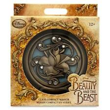 New Disney Store Beauty And The Beast Dual Glass Cosmetic Compact Vanity Mirror