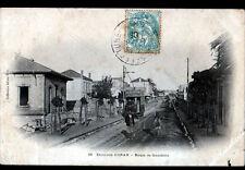 Quartier d'ORAN (ALGERIE) TRAMWAY publicité CHOCOLAT LOUIT aux VILLAS en 1905