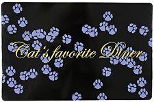 Trixie Non Slip Place Mat /Floor Mat / Food Bowl Cat/ Kitten 24547 Purpl /Black