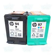 Genuine HP 94 Black & 97 Color OfficeJet H470 7210 7310 7410 PSC 1600 1610 2355