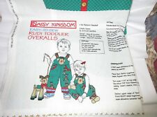 NEW Daisy Kingdom  Rudi Toddler Overalls Fabric Panel Christmas EASY-TO-SEW