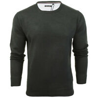 BRAVE SOUL MENS PULL OVER JUMPER PLAIN CASUAL FORMAL SOFT KNIT WEAR SWEATER TOP
