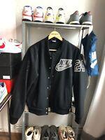 Vintage Nike Jacke Collegejacke Bomberjacke Rarität Gr. M Deadstock Off White