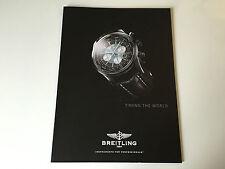Nouveau - Catalogue BREITLING - Chronomètrage the World - Pour Collectionneurs