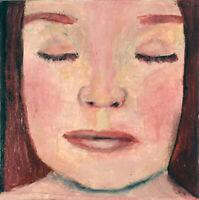 Original Oil Portrait Painting Sleeping Child Art OOAK Katie Jeanne Wood