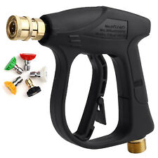 Short Wand High Pressure Wash Gun Spray Nozzle Hose For Car Garden House Clean