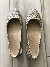 Crocs Iconic Laura Leopard Print Slip On Comfort Shoes Size 10