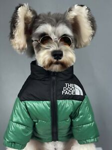 THE DOG FACE Warm Winter Down Jacket North Face Retro Puffer Puppy Waterproof