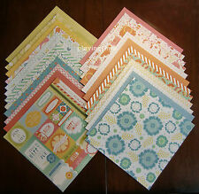 "DCWV CITRUS STACK Printed Cardstock LOT of 24 Scrapbook  Sheets of 12"" x 12"""