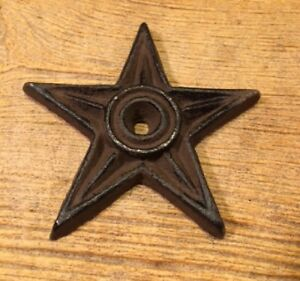 "Cast Iron Center Hole Star Anchor Plate 4"" (Single) Home Decor 0170-02107"