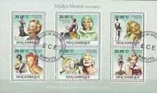 Timbres Marilyn Monroe 2752/7 Mozambique o de 2009 lot 27797 - cote: 12 €
