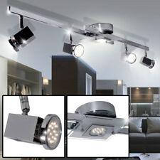 Plafonnier LED salon faisceau éclairage chrome projecteurs spots verre pivotant