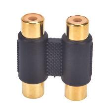 Double 2 x RCA phono coupleur femelle à connecteur audio vidéo femelle *tr
