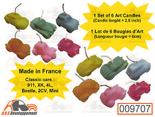 6 BOUGIE (CANDLE) 2CV - AUSTIN MINI - BEETLE - JAGUAR - R4 - PORSCHE 911  -9707-