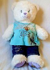 "Build A Bear Hannah Montana Bear Official Shirt Jean Necklace Plush 16"" Stuffed"