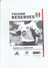 Division 1 Pre-Season/Friendly Football Programmes