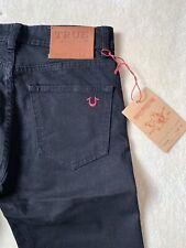 True Religion Jeans Black Stretch Skinny Fit Rocco Division BNWT W34 L32