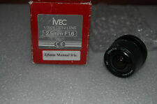 "IVEC CCTV Box Camera Lens 2.5mm WIDE ANGLE NEW ""open box"""