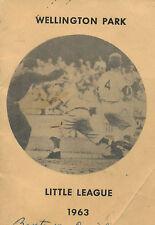 1963 Portland, OR Wellington Park Little League Roster, Schedules, Sponsors