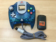 Dreamcast Blue Clear Controller W/ Massive Memory Card UNTESTED