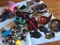 Junk drawer lot Legos rubiks 14kGP Jewelry Bracelet Purse Disney Brass Craft fun