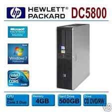 HP Compaq DC5800, INTEL E8400 DUAL 3.0GHz * 4GB * 500GB * Win 7 PRO * DVD RW