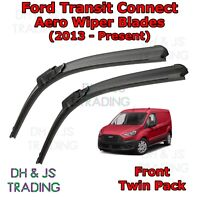(13-19) Ford Transit Connect Aero Wiper Blades / Front Flat Blade Wipers Van