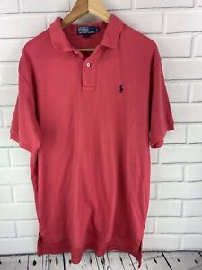 Polo by Ralph Lauren Men's Large Short Sleeve Soft Polo Shirt Salmon Pink