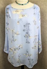 Joules ~ size 10 ~ powder blue & ivory floral print, loose fit, 'Tait' top