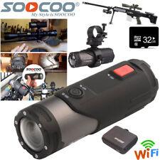 32GB WIFI 1080P Sports DV Action Camera Bike Helmet Waterproof CAM For Shotgun