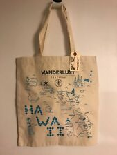 NWT MapTote Canvas Tote Bag Hawaii Wanderlust Festival New Free Shipping Made US