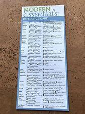 doTERRA Book Modern Essentials 8th Ed FRIDGE CARD - Essential oil bible