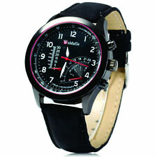 Genuine Leather Band Matte Analogue Wristwatches