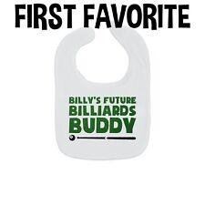 Custom Name Billiards Buddy Baby Bib Personalized Pool Pregnancy Announcement
